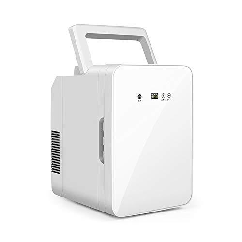 Nevera Eléctrica Fría Y Cálida, Mini-Nevera con Refrigerador Y Estufa para Oficina...