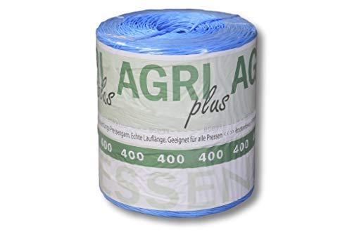 10 kg = 1 Doppelpack AGRI plus Pressengarn Erntegarn Bindegarn Kunststoffgarn für Hochdruckballen 400 m/kg auch verwendbar als Packschnur, Schnur, Bündelgarn, Paketschnur, Kordel, Gartenschnur.