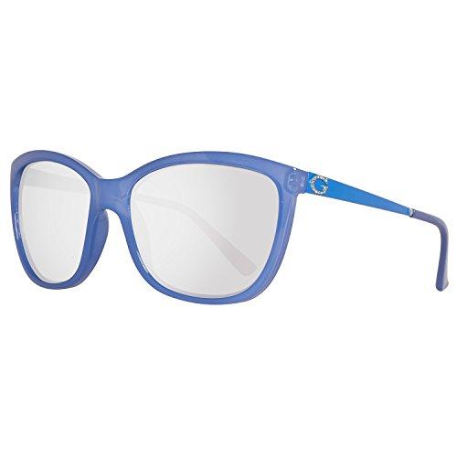 Guess Sonnenbrille GU7444 5884C Gafas de sol, Azul (Blau), 58 para Mujer