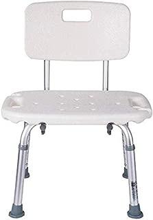 Firsthgus Taburete de Ducha Plegable de Acero Inoxidable,sillas de Ducha Respaldo, Altura Regulable Taburetes de Ducha/baño para Ancianos discapacitados Capacidad de Carga de 150 kg