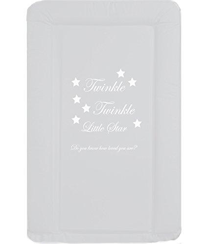 TupTam Colch/ón para Cambiador para Beb/és Color Estrellas Blanco Gr/ö/ße 70 x 70 cm