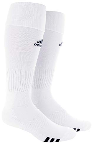 adidas Unisex Rivalry Soccer OTC Socks (2-Pair), White/ Black, Medium