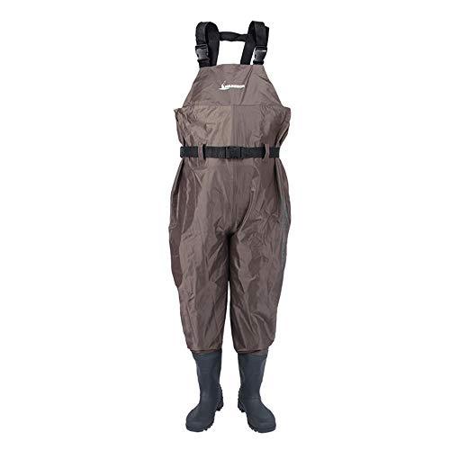 FENGXONG Whippersnapper und Immediate Dry, verschleißfester Overall, rutschfest, erwachsen Einteiliger brauner Jumpsuit mit hohem Busen (Farbe : Braun, Size : 47)