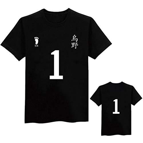 Preisvergleich Produktbild Siskey Haikyuu Shirt, Haikyuu T-Shirt, Haikyuu Costume Uniform Hinata Kageyama Cosplay, Haikyuu!!Karasuno High School Volleyball Club Hinata Shouyou Cosplay-1, 2XL