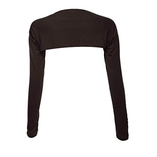 luosh Women Shrug Long Sleeve Shawl Arm Cover Shrug Crop Cardigan Top