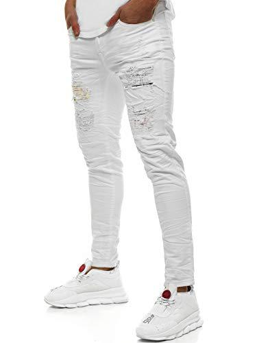 OZONEE heren jeans broek herenjeans jeans spijkerbroek skinny Röhenjeans biker stretch regular slim fit rechte sportjeans cargobroek cargo destroyed look wasbroek T/82007