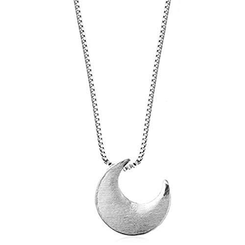 Xianglsp Co.,ltd Halskette Gut Gemachte 925 Silber Ästhetische Exquisite Zuckerguss Crescent Moon Weibliche Anhänger Halskette