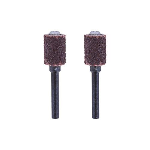 Dremel - Banda de lijar y mandril 6,4 mm, grano 60 (430), pack de 2