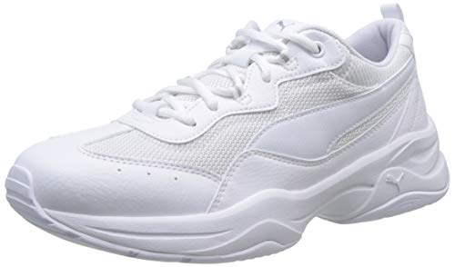 Puma Damen Cilia Sneaker, Weiß (Puma White-Gray Violet-Puma Silver), 39 EU