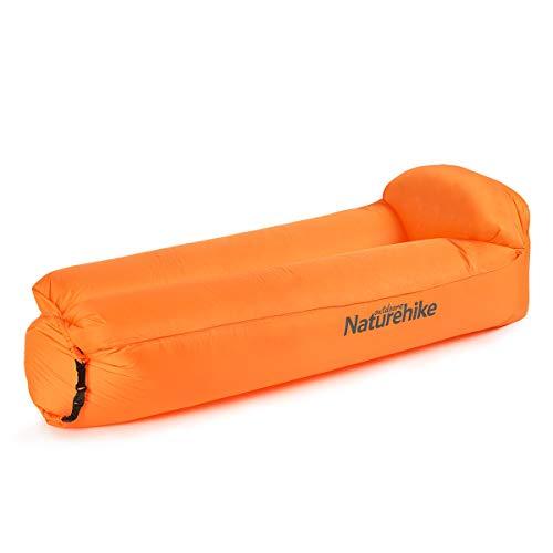 Naturehike Aufblasbarer Lounger, Wasserdichtes Luft Sofa mit Portable Paket, Lazy Lounger Aufblasbares Sofa Air Bett für Reisen, Camping, Wandern, Pool und Beach Parties (Orange)