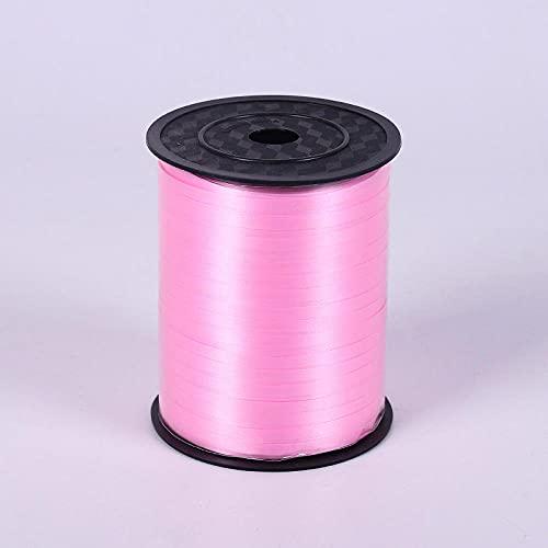 POTTBONS Cinta de globo de 450 metros 12 colores, cinta de cinta de lluvia globo de seda decoración de la fiesta de cumpleaños de la boda, cuerda de enlace de regalo-rosa