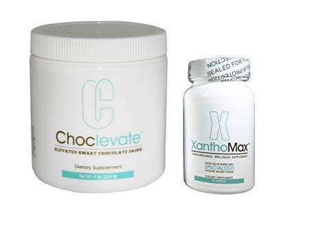 Elevacity Choclevate Tub and XanthoMax Bottle 30 caps