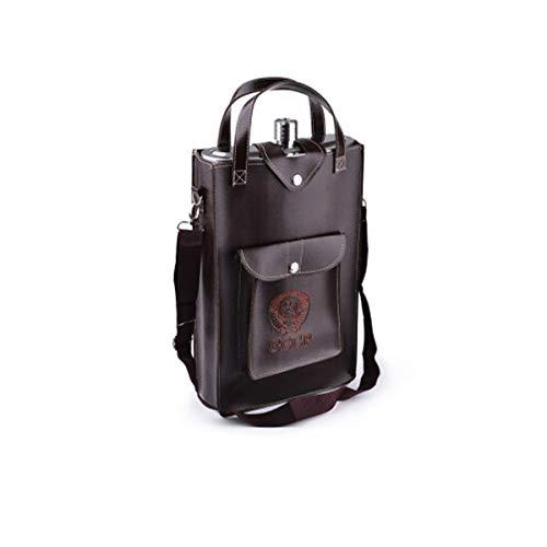 KEHUITONG - Fiaschetta Portatile in Acciaio Inox per Esterni, capacità: 178 ml, con Custodia in Pelle, capacità Grande, capacità 10 kg (invia Bicchieri da Vino, 4 + Wi, Argento, Capacity 178 Ounces