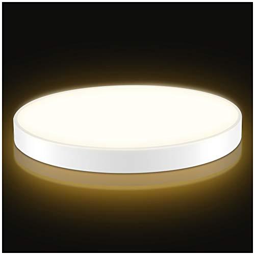 Plafoniera a LED, Plafoniera a LED, Rotondo Plafoniere a Led moderne Camera da letto Cucina Soggiorno Lampada per balcone Corridoio Cucina Soggiorno IP20 (bianco caldo, 48W-60cm)