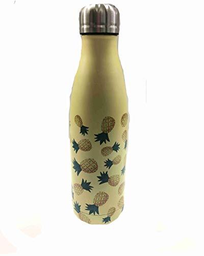 Borraccia 500ML Gialla con Ananas Termica Acciaio Bottles IDRINK Total Juggling