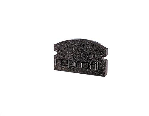 Perfilar 97850214mm 2piezas F-AU-01–08End Cap, negro