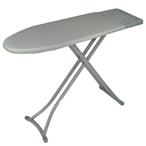 Z-Hawvii Z-W-DONG Laundry Room Ironing Board, Oversized Widen Ironing Board Metal Solid Steam Iron Rest, Suitable for Ironing Suits, Silver Cloth Cover,113 * 32 * 85CM Ironing Boards
