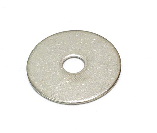 1/4' x 1-1/4' OD Stainless Fender Washer,(100 Pack) - Choose Size, by Bolt Dropper, 18-8 (304) Stainless Steel.