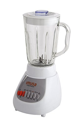 IMUSA USA White 10-Speed Blender with Glass Jar 4, 42 oz