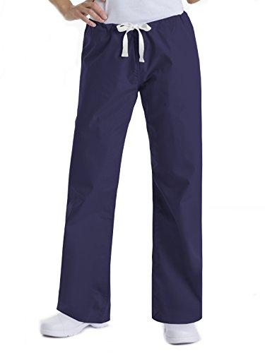 Urbane Essentials Women's Straight Leg Drawstring Scrub Pants-9502 (Patriot Blue - XX-Large)
