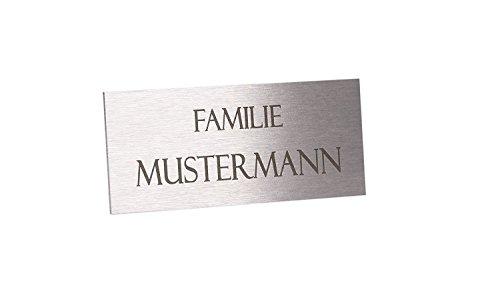 Edle T/ürschilder mit Gravur Namensschild Briefkastenschild selbstklebend oder mit Bohrl/öcher Klingelschild mit mehr als 80 Motive Gr/ö/ße ab 7,9x4,9 cm