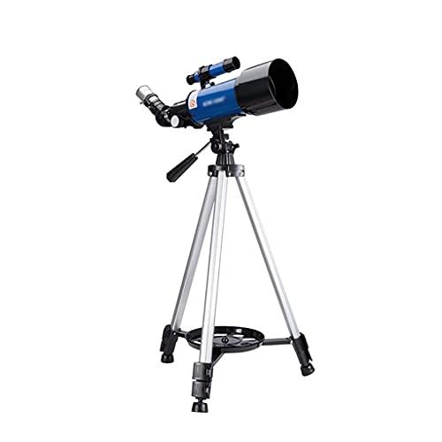 Telescopio HD Telescopios para Adultos 70 mm Apertura 400 mm Telescopio astronómico portátil con trípode Ajustable Adaptador para teléfono Inteligente Portátil (Color: Azul)