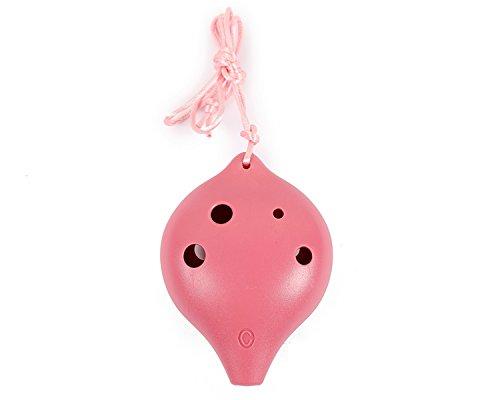 TNG オカリナ 楽器 [ 6穴 / アルト/ピンク ] プラスチック C調 AC (ストラップ付き) Ocarina 初心者 学校 吹奏管 樹脂 桃色