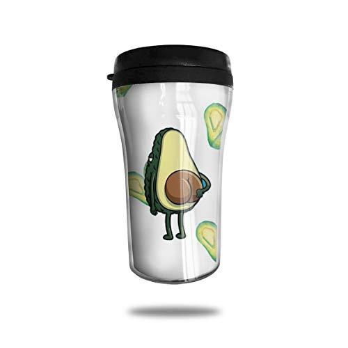 OUYouDeFangA Taza de café con forma de corazón con diseño de aguacate...
