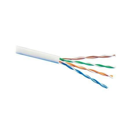 Cable UTP de categoría 6 CCA con Cubierta de PVC en Color Blanco en Bobina de 305m
