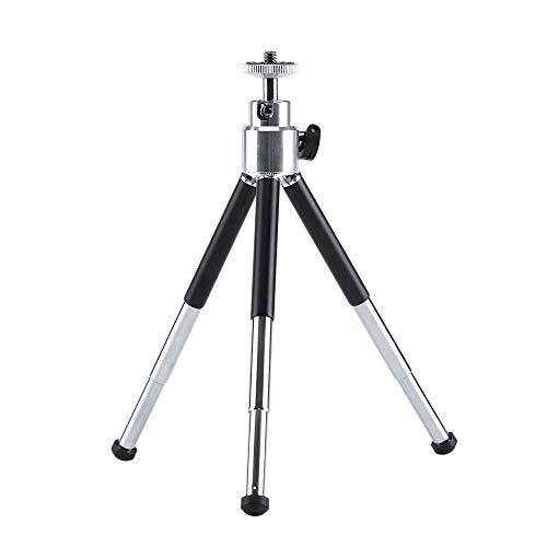 JETAku スマホ三脚 一眼レフカメラ 3段階伸縮 最長15cmまで 360°まで自由に調整可能 超軽量 アルミ製 携帯便利 スマホ三脚