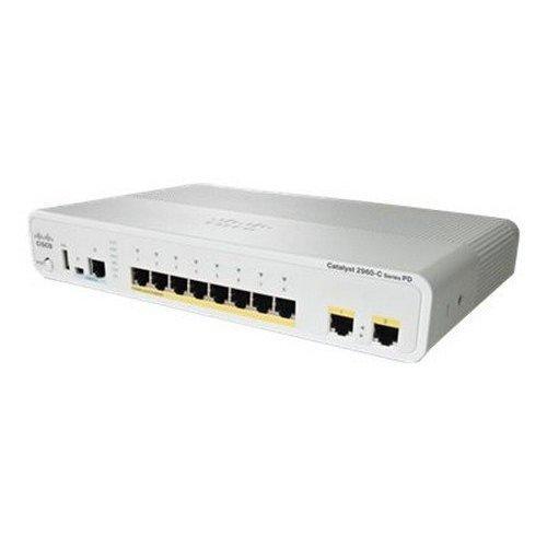 Cisco Catalyst Compact 2960CPD-8PT-L - Conmutador - gestionado - 8 x 10/100 (PoE) + 2 x 10/100/1000 - Escritorio - PoE -...