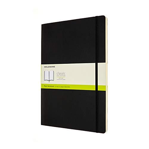 Moleskine Classic Notebook con Pagine Bianche, Taccuino con Copertina Morbida e Chiusura ad Elastico, Dimensione A4 21 x 29.7 cm, Nero, 192 Pagine