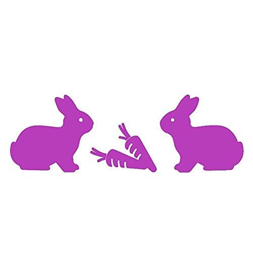 Divertidas pegatinas de conejo lindo coche de dibujos animados decoración de la puerta del coche personalizada PVC impermeable protector solar pegatina 17 x 6 cm (color: 5, tamaño: 17 x 6 cm)