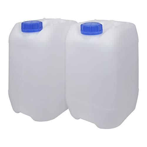 Bidón Garrafa Plástico 10 litros apilable. Apta para uso alimentario. Homologación para transporte. (2 Unidades).