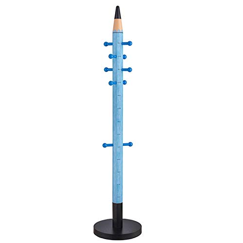 LICHUAN Perchero Lápiz Forma Abrigo Rack Plaza Percha Adolescente Niños Moda Color Creativo Ropa Vertical Rack Dormitorio Fácil Montaje (Color : Blue)