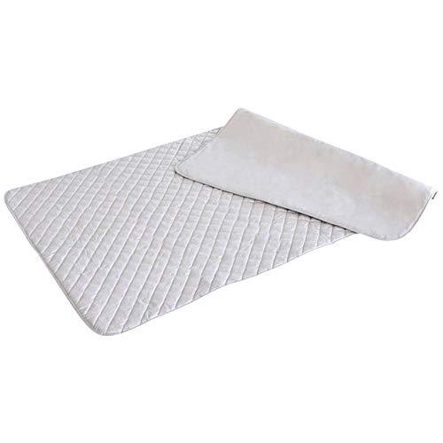 QKJZWJ Fold Strijkmat, verzilverd strijkmat, draagbaar, hoge temperatuurbestendigheid, geschikt voor reizen, hotels, woonhuizen, kleine woningen of overal (OPP)