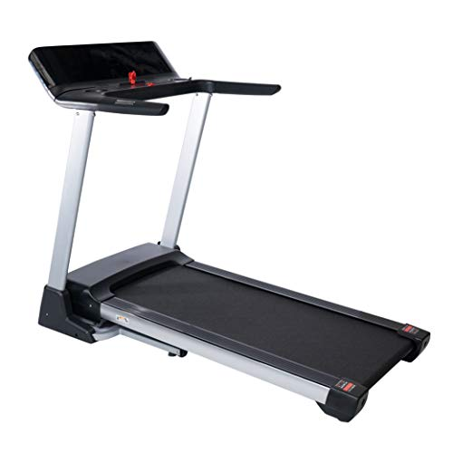 Fit4home Treadmill For Home Foldable Electric Running Walking Exercise Machine | MP3 Bluetooth, USB, Incline, LCD, Silent, Portable Cardio Fitness Workout | TF-D6501 Black