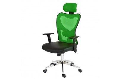 grüner Chefsessel bis 150Kg grün Drehstuhl Bürostuhl Armlehnen Netzrücken