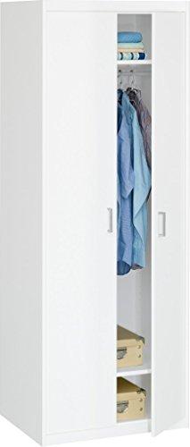 CS Schmal  12/79 Kleiderschrank 79 Soft Plus weiß (72x194x54)