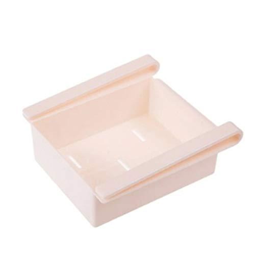 Hotink1 - Caja de almacenamiento para divisiones de refrigerador de cocina, multiusos, para guardar alimentos en el hogar, organizadores de capas 11.8x14.5x6.5cm rosa