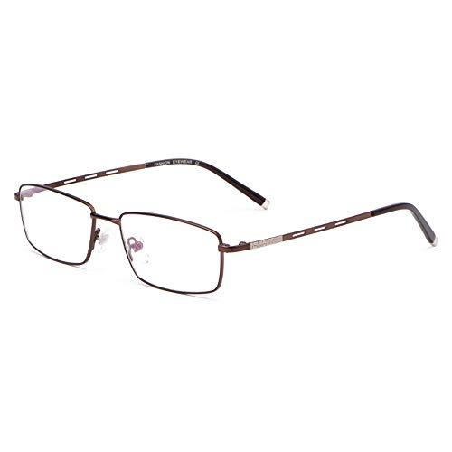 Mens Leesbril HD Harslenzen Presbyopie Hypermetropie Loepen Optische Brillen Met Graden 1,00-3,00,Brown,+2.75