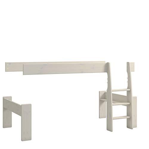 Steens For Kids Umbauset vom Einzelbett zum Spielbett , Hochbett, 114 x 114 x 206 cm (B/H/T), Kiefer massiv, weiss
