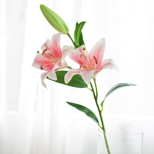 JONJUMP Lily - Guirnalda de flores artificiales para decoración de boda, decoración de manualidades, decoración para el hogar