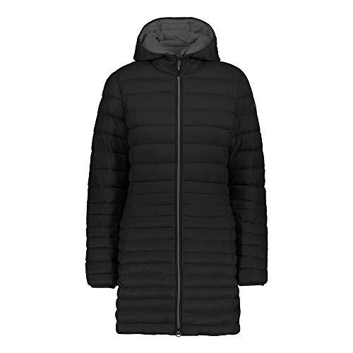 CMP Campagnolo Damen Mantel 3Z18976 Fix Hood Parka schwarz, Größe:50