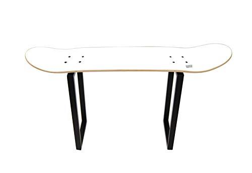 Skate Board Tabouret Décoration Cadeau de Teen – s'asseoir en Réunion avec Vos Amis, Skateboard Table Basse, Blanc