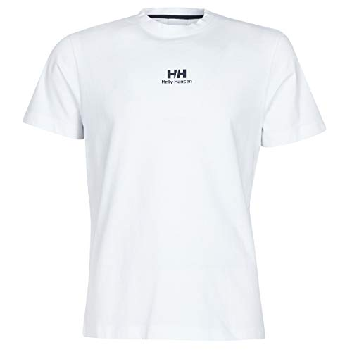 Helly Hansen Camiseta Unisex Yu20 con Logotipo, Unisex Adulto, Camiseta Unisex, 53460, Blanco, Medium