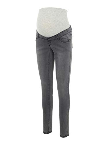 MAMALICIOUS Mama Licious Female Umstandsjeans Slim Fit 3132Grey Denim