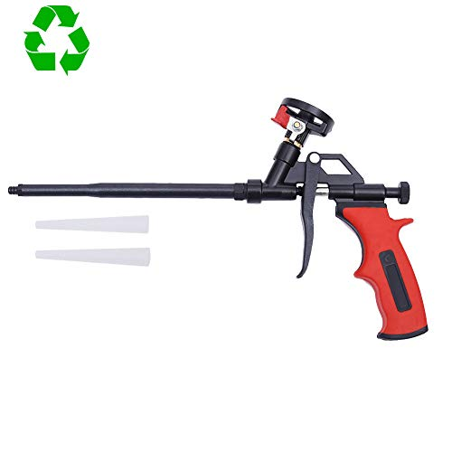 DAFEIKE Expanding Foam Gun Needn't Cleaner, Updated Teflon Pro Foam Dispensing Gun, Insulating Foam Sealant Sprayer, Pu Foaming Applicator for Caulking and Insulation