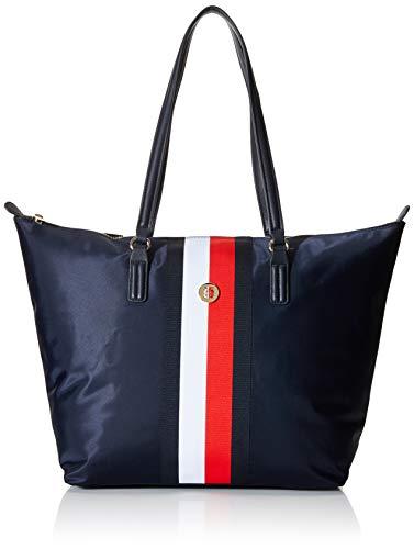 Tommy Hilfiger Damen Corporate Tote Shoppertasche Handtasche Blau ONE Size