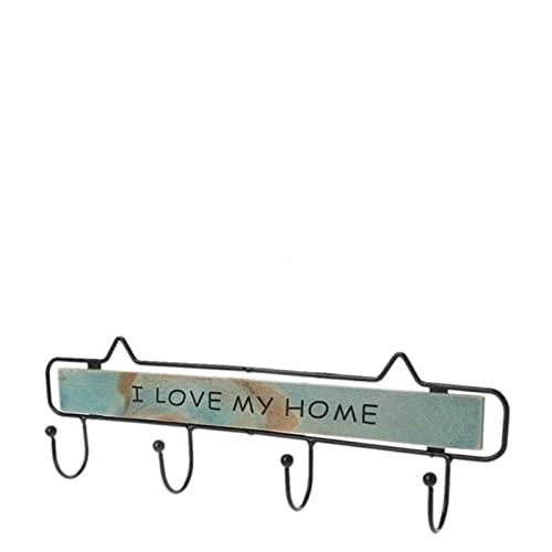 allforyou Colgador de Ropa de Montaje en Pared 4 Ganchos Sombrero Tenedor de Llaves Lavandería Coat Rack Colgante Estante de Almacenamiento para el hogar